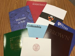 Ivy League acceptance letters