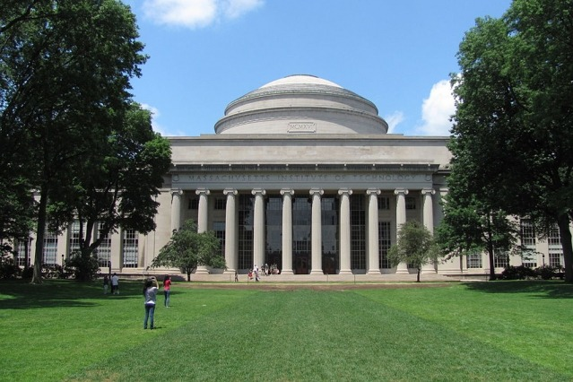 The lawn in front of the MIT building.