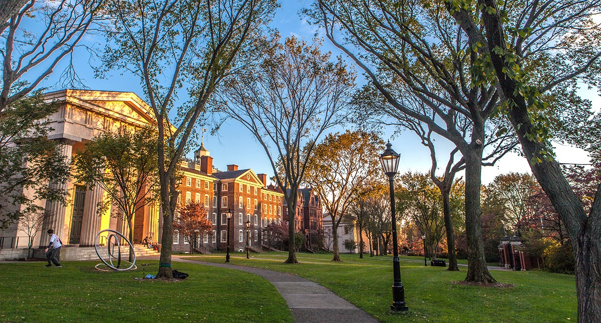 A peaceful scene at Brown.