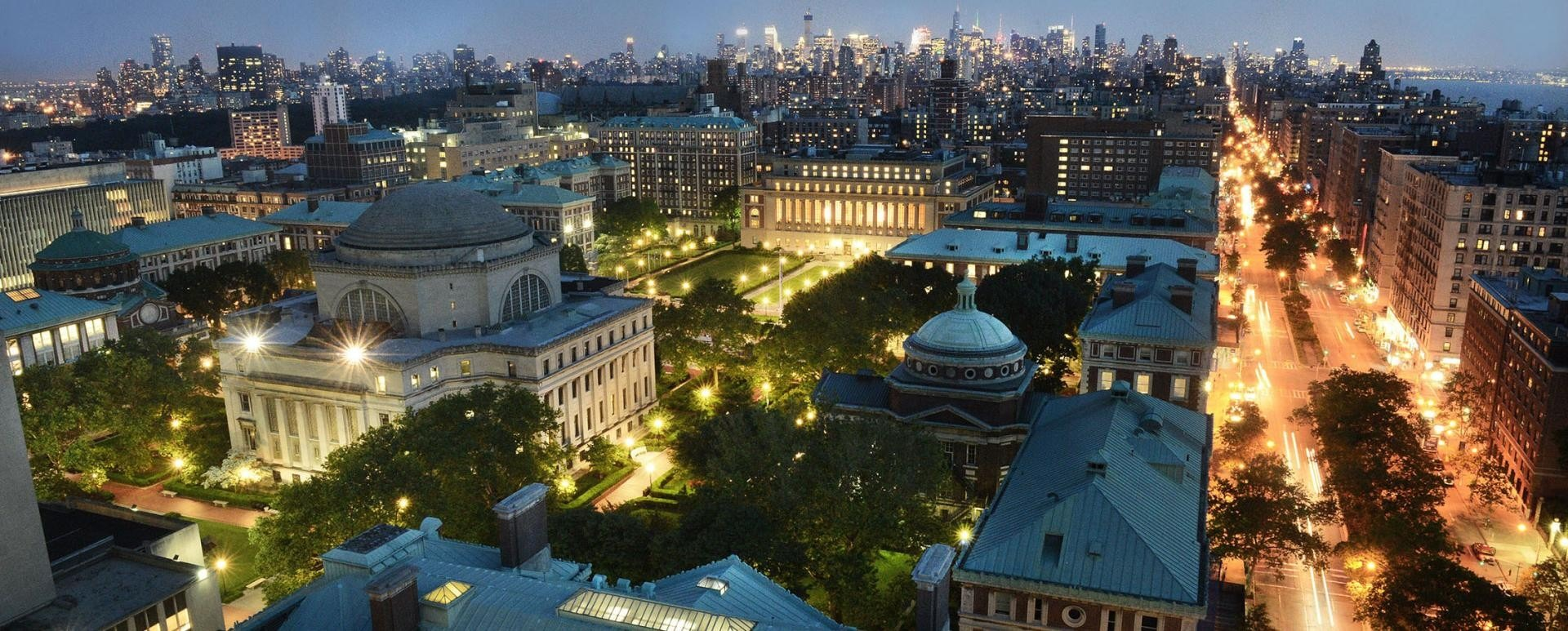 The beautiful city lights at Columbia.