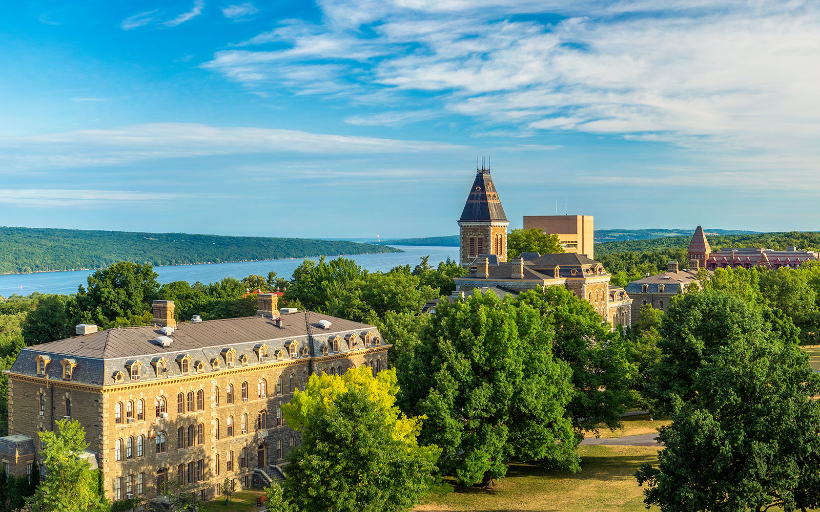 A beautiful view of Cornell.