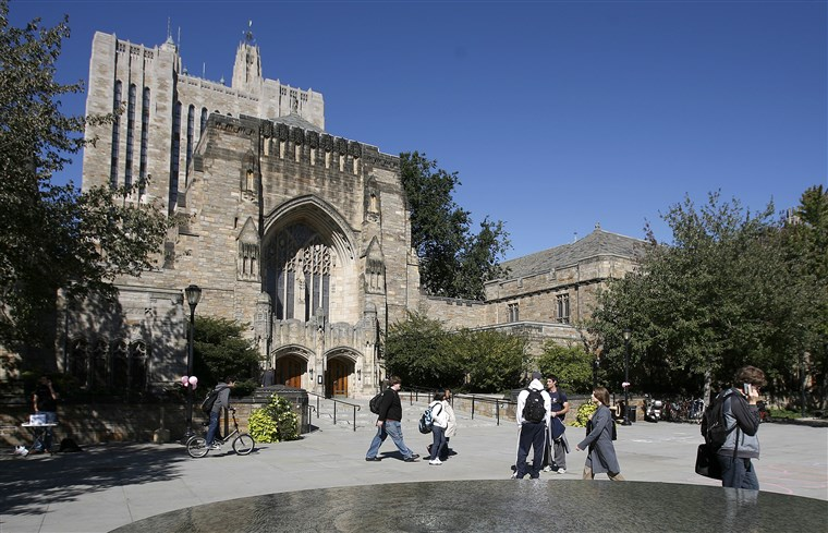 The amazing gothic architecture at Yale.