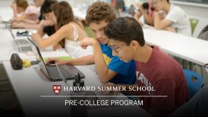 Students study during their time at Harvard Summer School