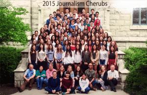 Students gather during the Medill-Northwestern Journalism Institute Summer Program.