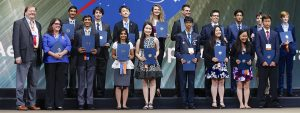 Intel ISEF students receive awards for winning the Intel ISEF competition