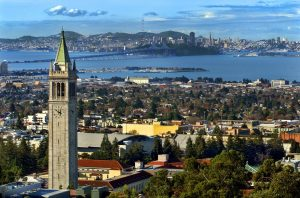 An aerial view of the UC Berkeley campus