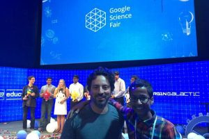 Ahmed and Sergey go to their first Google Science Fair