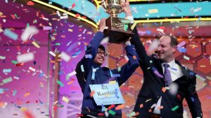 Puja Shitar wins the 2018 Scripps National Spelling Bee in front of a live audience