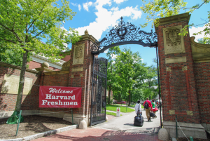 Harvard incoming freshman enter into their first day of school