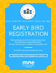Early Bird Registration for the Scripps National Spelling Bee