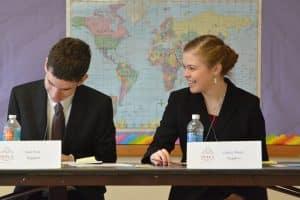 High school students devoted to a debate club.