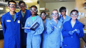 COSMOS students studying science during summer session