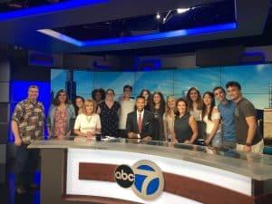 High school students Northwestern of the Medill Cherubs program take a field trip to the abc7 news station