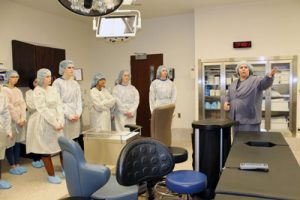 Students attentively learn in HOSA