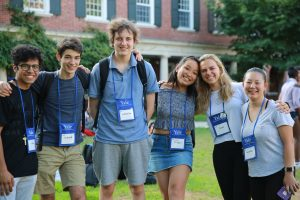 High school students attending the 2019 Yale Young Global Scholars summer program.