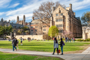 Many different aspects of Yale can attract high school students, such as their stunning campus.