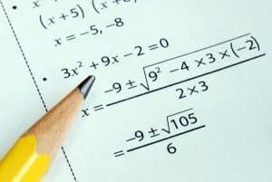 Sample SAT Math level 1 test question.