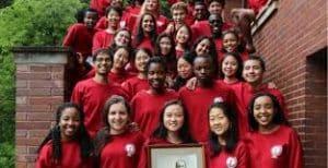 2019 Telluride students posing for summer school
