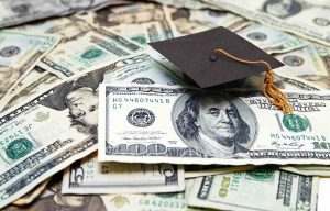 Money required to pay for college materials and admission.