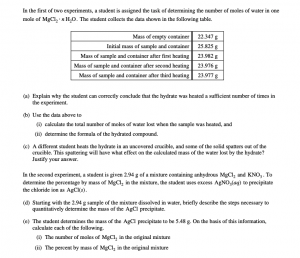 Several examples of the kinds of multiple-choice questions that students can expect to see on the exam