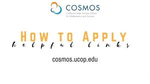 How to apply to Cosmos