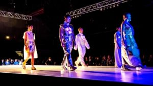 Fashion show of students