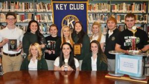 Key Club member posing for a picture.