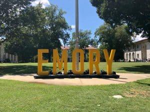 Emory main signage