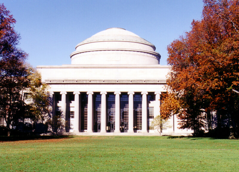 Facade of MIT main building