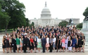 Congressional Volunteer Award attendees gathered for a picture