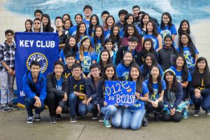 Key Club member gathered together for a picture.