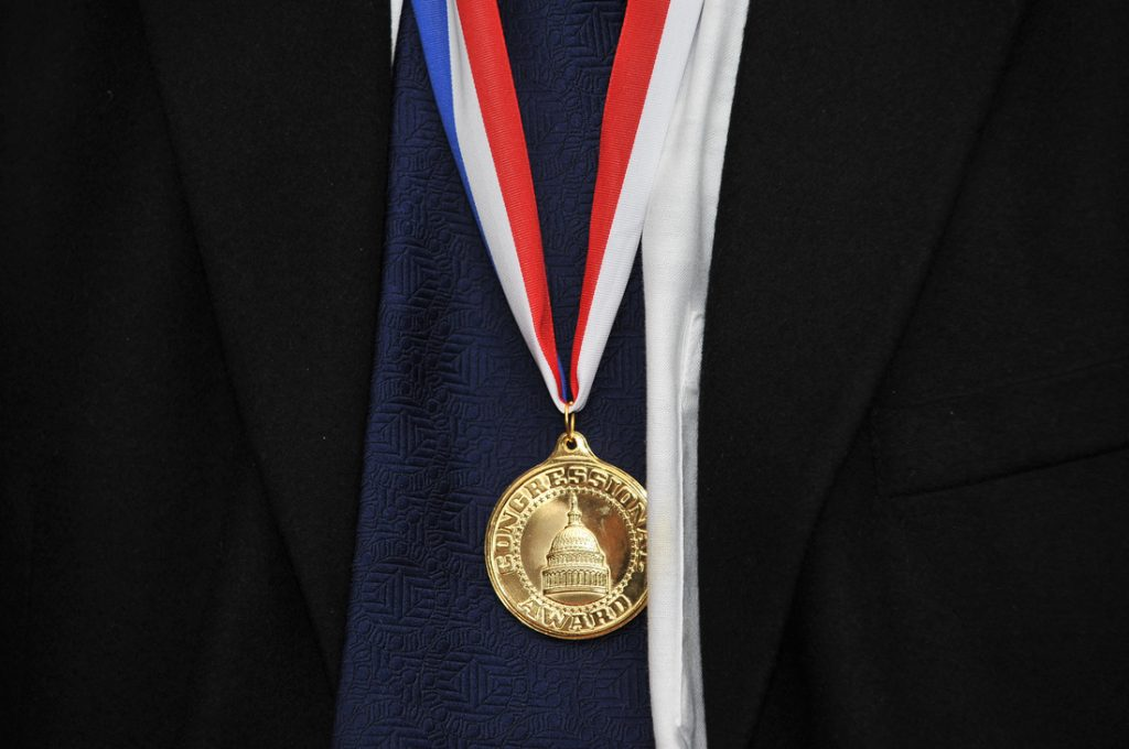 Congressional Volunteer Award medal