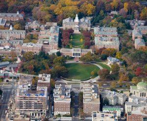 Johns Hopkins University aerial view