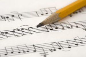 Music sheet and pencil for NAfME