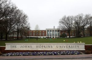 Johns Hopkins University signage