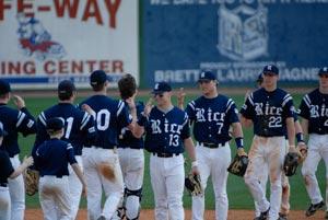 Rice University baseball players