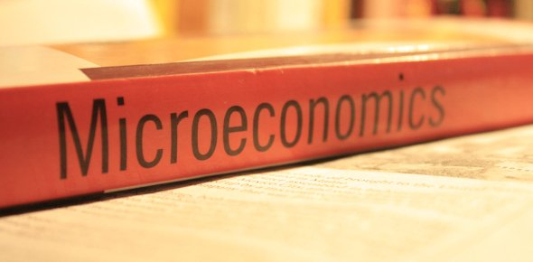 Microeconomics logo in a book