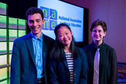 NAfME Student composers smiling for the camera