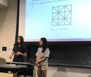 Students presenting a problem through a powerpoint presentation