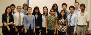 Members of Clark scholars program gathered in a room for a picture