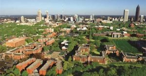 Georgia Tech aerial view of school campus