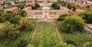 aerial view of school campus