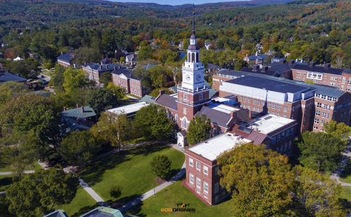 Aerial view of Dartmouth College
