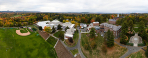 Amherst college aerial view