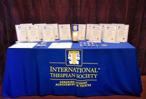 Thespian Society certificates in the table