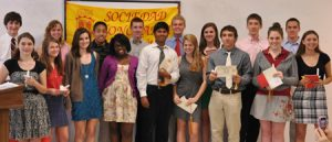 Spanish Honors Society participants smiling for the camera