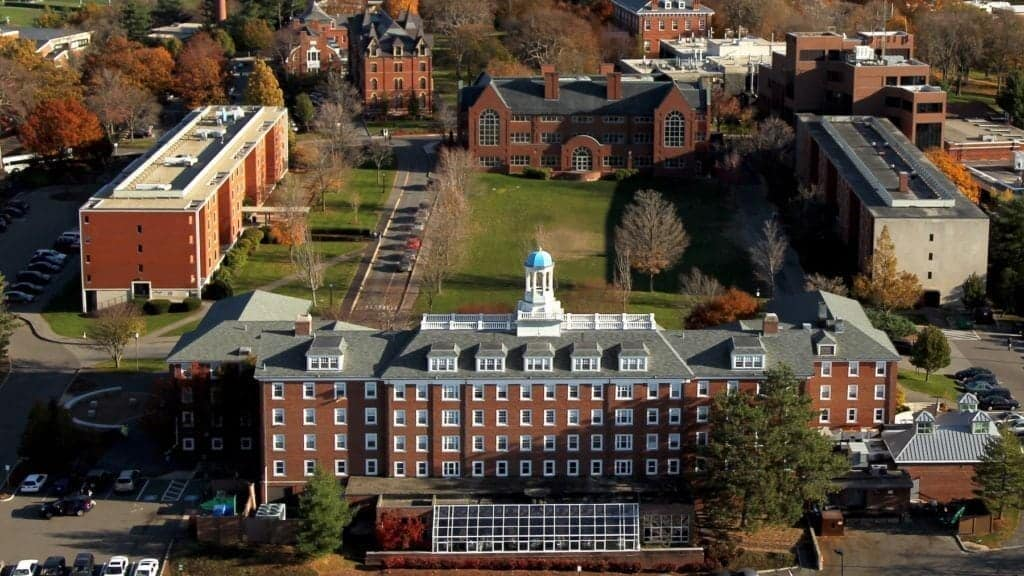 Tufts University Aerial view of campus