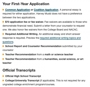 application process for students