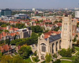 University of Chicago aerial view of campus