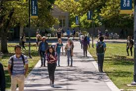 Students walking in the school campus